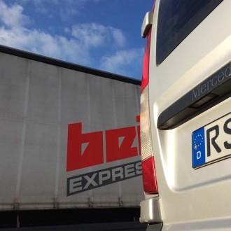 Fahrzeug der Firma Beitzel Express-Logistik